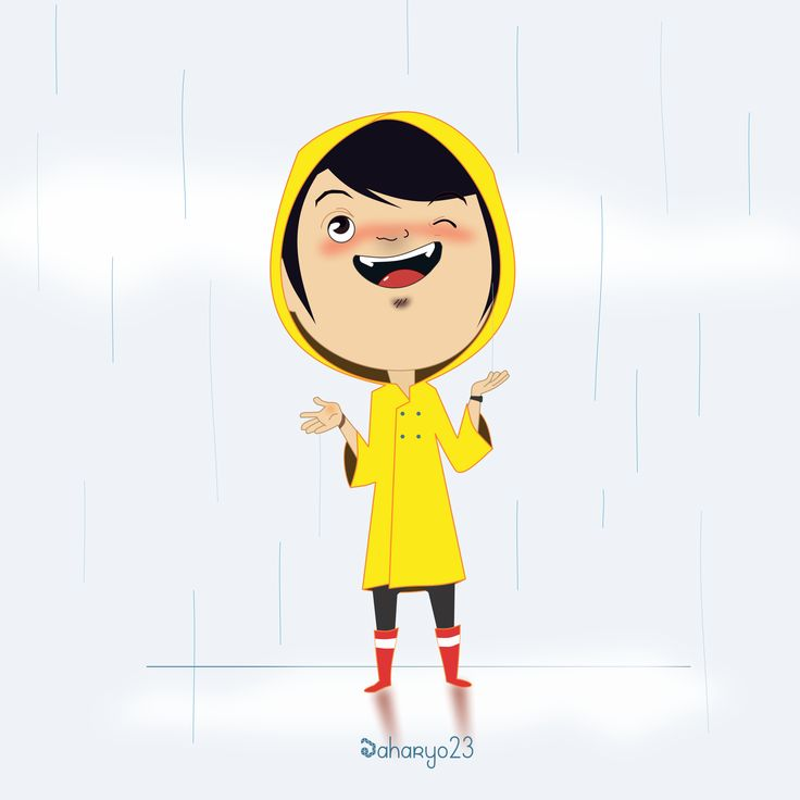 The Boy who wears a yellow coat - Waiting for the rain