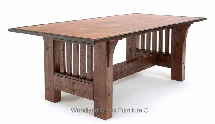 Rustic Craftsman Dining Table