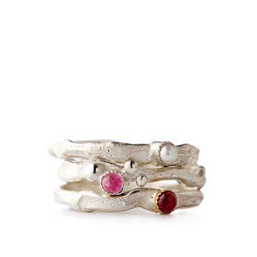 Stapel ringen in zilver | Wim Meeussen &CTRA Zilveren Juwelen Antwerpen