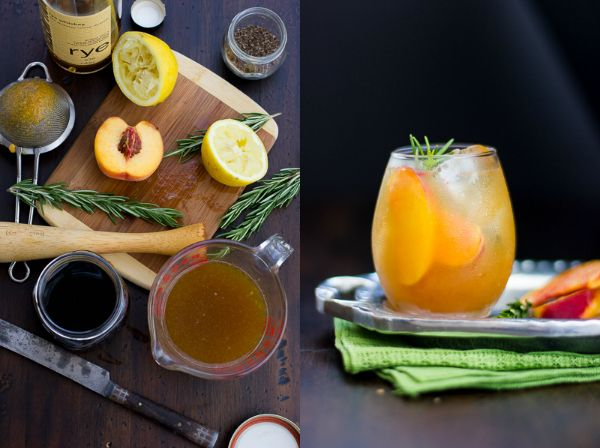 The Bojon Gourmet: Rosemary Peach Maple Leaf Cocktail | Favorite ...