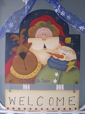 Bienvenida Navideña para la Puerta(Diseño Renee Mullins)