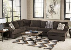 RED HOT DEAL ALERT: Jessa Place Chocolate Right Facing Chaise Sectional,Signature Design by Ashley