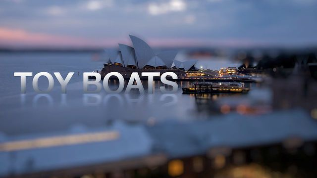 """""""Toy Boats"""" is a short tilt-shift time-lapse video I shot over 3 days while staying in Sydney. The tilt-shift effect was created in Photoshop, compiled in LRTimelapse & After Effects and edited in Premiere Pro CS6."""