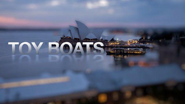 Toy Boats - A Sydney Tilt-shift Time-lapse by Nathan Kaso.