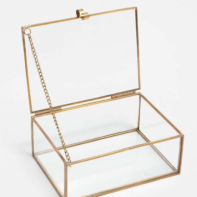 Glazen metalen doos - Dozen - Decoratie | Zara Home Holland