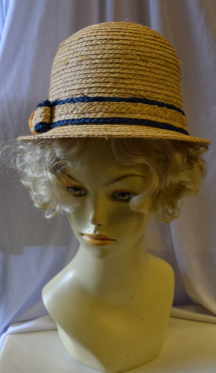 Vintage 1920's Inspired Straw Summer Hat