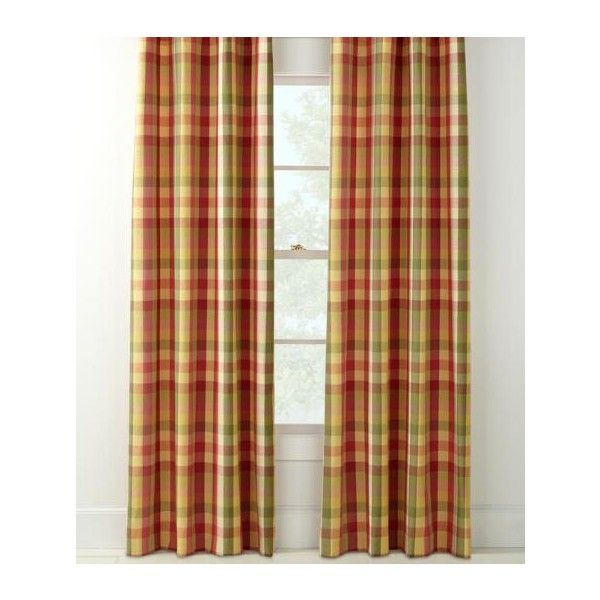 Country Curtains Moire Plaid Rod Pocket with Back Tab Curtains - 84 L ($170) ❤ liked on Polyvore featuring home, home decor, window treatments, curtains, blue, blue window treatments, country plaid curtains, window drapery, blue plaid curtains and window coverings
