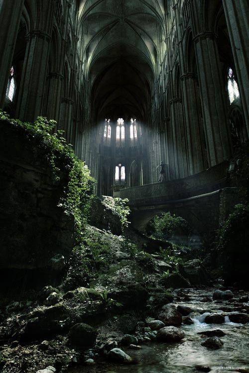 God's taking it back.  St. Etienne, France.