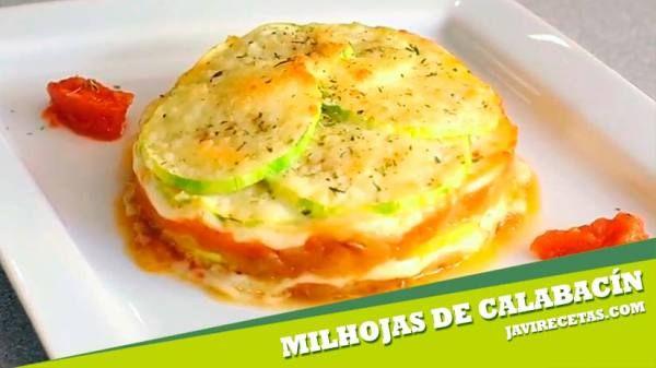 Milhojas de Calabacín y Verduras
