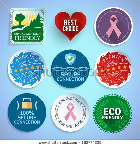 Colorful labels and stickers. EPS10. by Looper, via ShutterStock