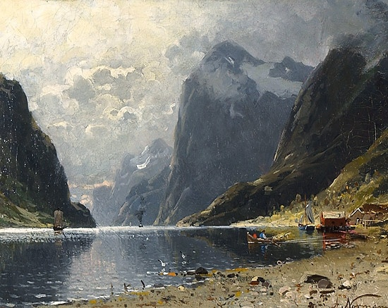 Adelsteen Normann (1848-1918): Fjordlandskap