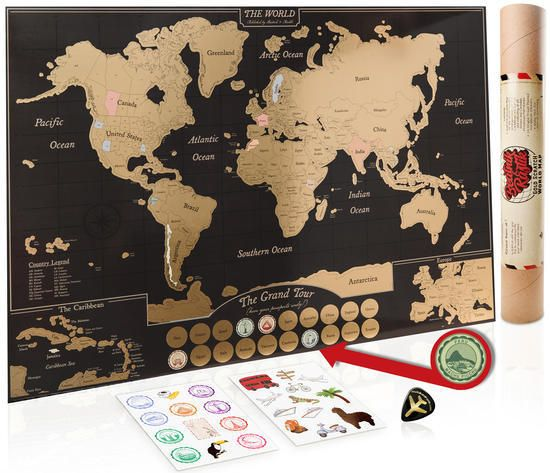 Scratch Off World Map With Us States.Scratch Off World Map Poster Includes Us States Canadian Provinces