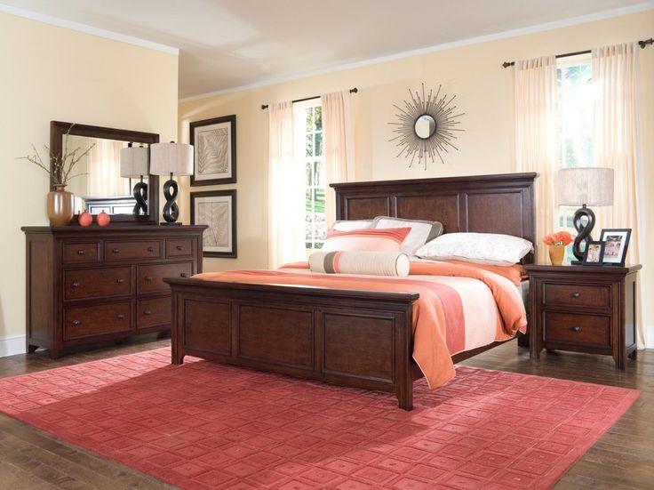 broyhill abbott bay panel bedroom set in warm russetbrown httpwww