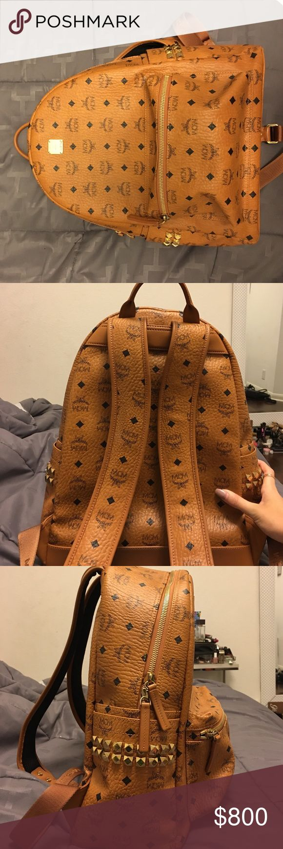 MCM backpack Medium studded MCM back pack. Only used once and 0 signs of wear. Bought it at MCM store and 100% authentic and beautiful condition. Perfectly new for a lesser price MCM Bags Backpacks