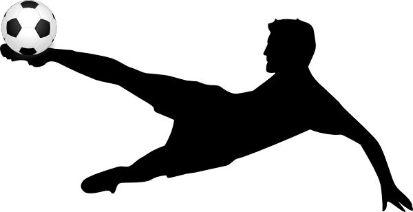 Soccer Player Kicking A Soccer Ball clip art - vector clip art online ...