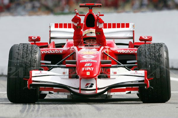 Michael Schumacher, Shangai 2006, Ferrari 248 F1, Last F1 win. He made Ferrari great again