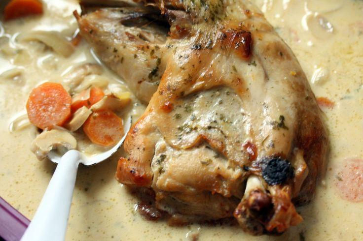 cuisse de dinde champignons carottes et moutarde blog chez requia cuisine et confidences