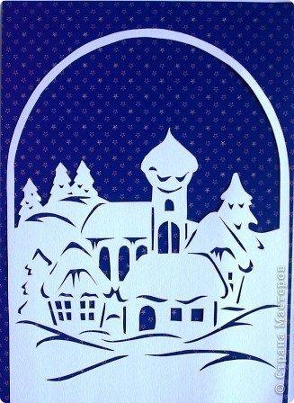 Village sous la neige .