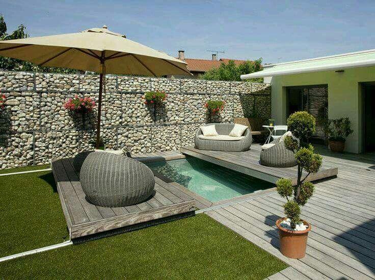 Mejores 58 im genes de piscinas para patio peque os en - Patios pequenos con piscina ...