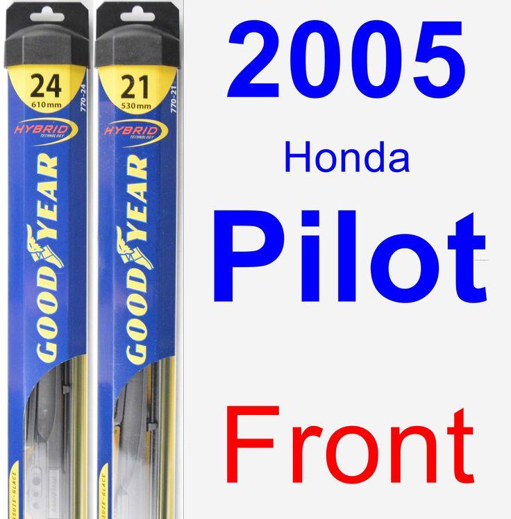 Front Wiper Blade Pack For 2005 Honda Pilot
