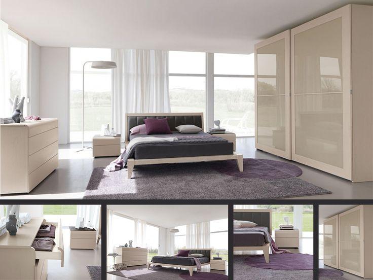 CAMERA GIADA  Una camera elegante e raffinata, con diversi punti di forza quali il piano stondato del comò a 4 cassetti, ripreso dai comodin...