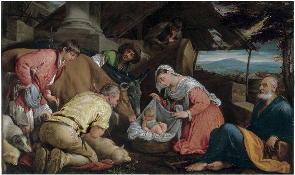 Лот 116. Јацопо да Понте, позвао Јацопо Бассано (Бассано дел Граппа ц. 1510-1592) Поклонение пастухов потписан 'иац.с / басса [...]' ...