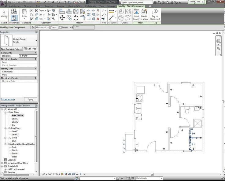 revit tutorial electrical plan part 1 revit. Black Bedroom Furniture Sets. Home Design Ideas