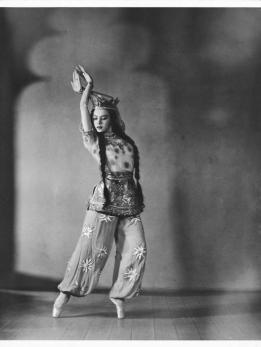 Irina Baronova as the Queen of  Shemakhan in Le Coq d'Or ca.1930s  National Library of Australia (after Diaghilev's Ballets Russes Company) - Ballet Russe