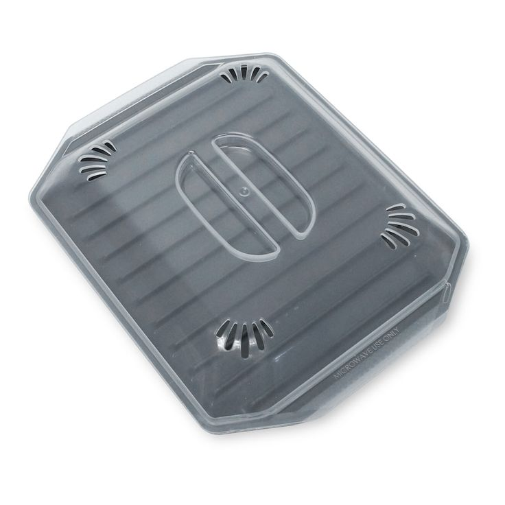 Food Network™ Microwave Bacon Tray with Lid, Grey