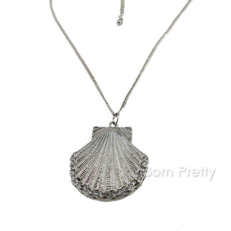 $1.99 1Pc Hot Sell Starry Sky Moon Gemstone Pendant Chain Necklace Fashion Chain Necklace - BornPrettyStore.com