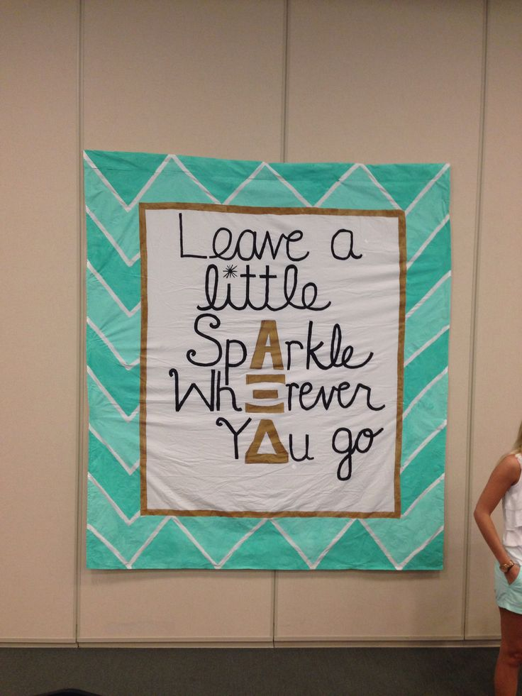 Alpha Xi Delta recruitment hey hey yours truly helped paint this ;)