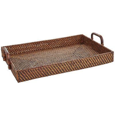 When it comes to serving another round, our hand-woven Rattan Tray is a handy helper. Flaunting iron handles for easy gripping, it boasts a deep lip to easily carry snacks and drinks from room to room.