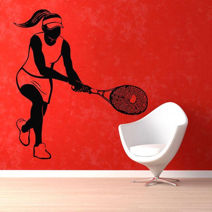 Tennis Player Inspirational Vinyl Sticker Wall Art