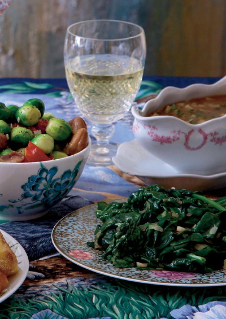 Spruitjes met #kastanjes en zongedroogde tomaten.