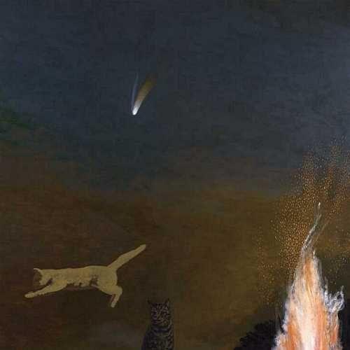David Inshaw –  Cats and Comet