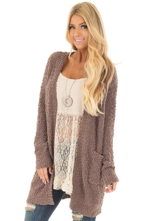 ce4c1d4f4c93 Mocha Oversized Soft Cardigan with Pockets