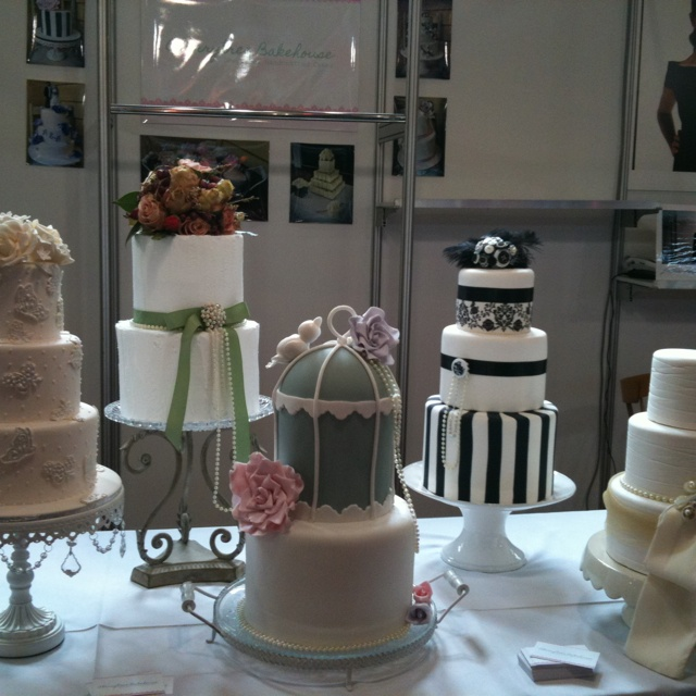 The cake I am having for my wedding on display @ la dolce festival today