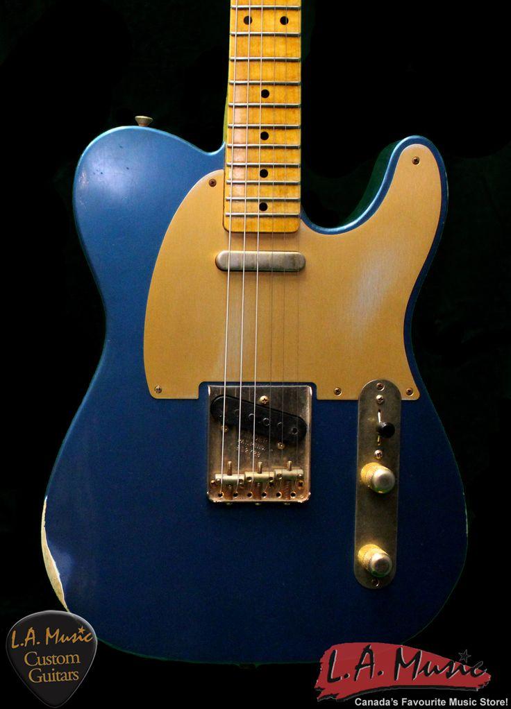 LA Music Custom Guitars - Fender Custom Shop 1952 Custom Shop Telecaster Aged Lake Placid Blue 1505202802, $4,020.00 (http://lamusiccustomguitars.com/fender-custom-shop-1952-custom-shop-telecaster-aged-lake-placid-blue-1505202802/?page_context=category