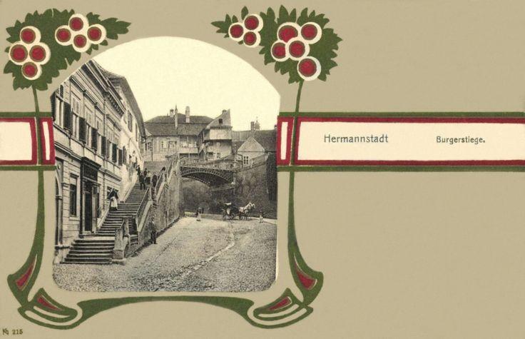 Nagyszeben:polgári lépcső,1901.