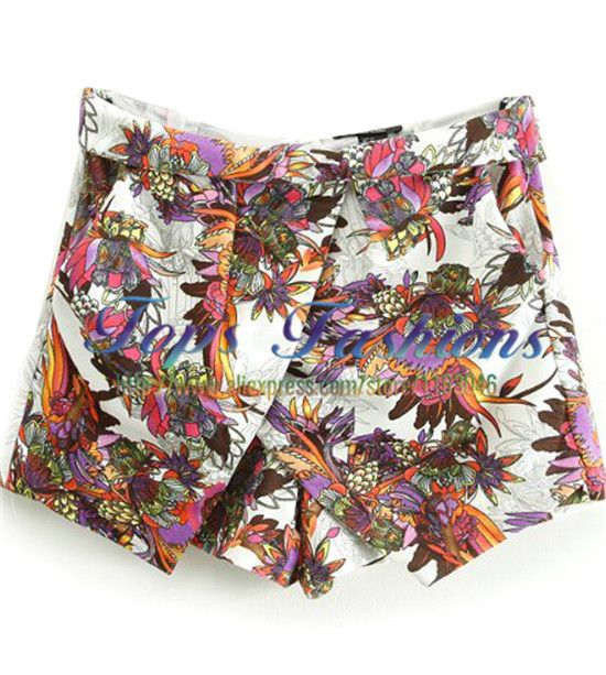 Find More Shorts Information about High Waist 2014 Fashion Summer Button Fly New Women's Loose Special Cute Casual White Floral Skirt Shorts,High Quality skirt hanger,China skirt pattern Suppliers, Cheap skirt fashion from TOPS FASHIONS on Aliexpress.com