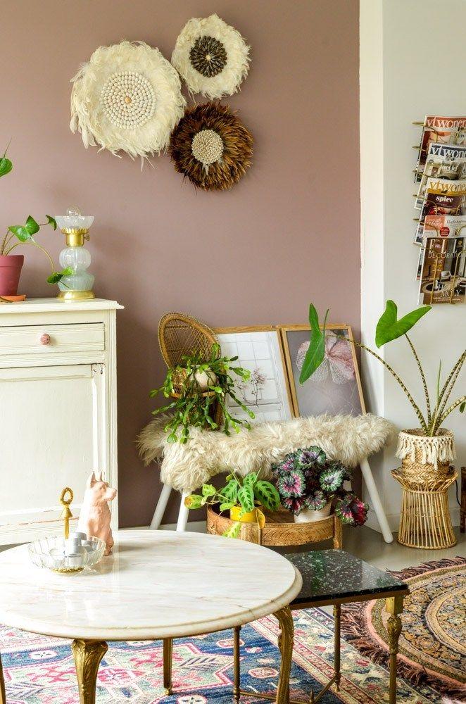 3 Roze Vintage Aankopen Met O A Een Marmeren Salontafel Marmeren Salontafels Vintage Lampen En Salontafel