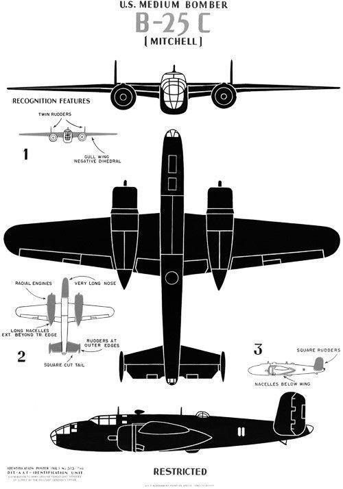 "U.S. Medium Bomber B-25C ""Mitchell"""