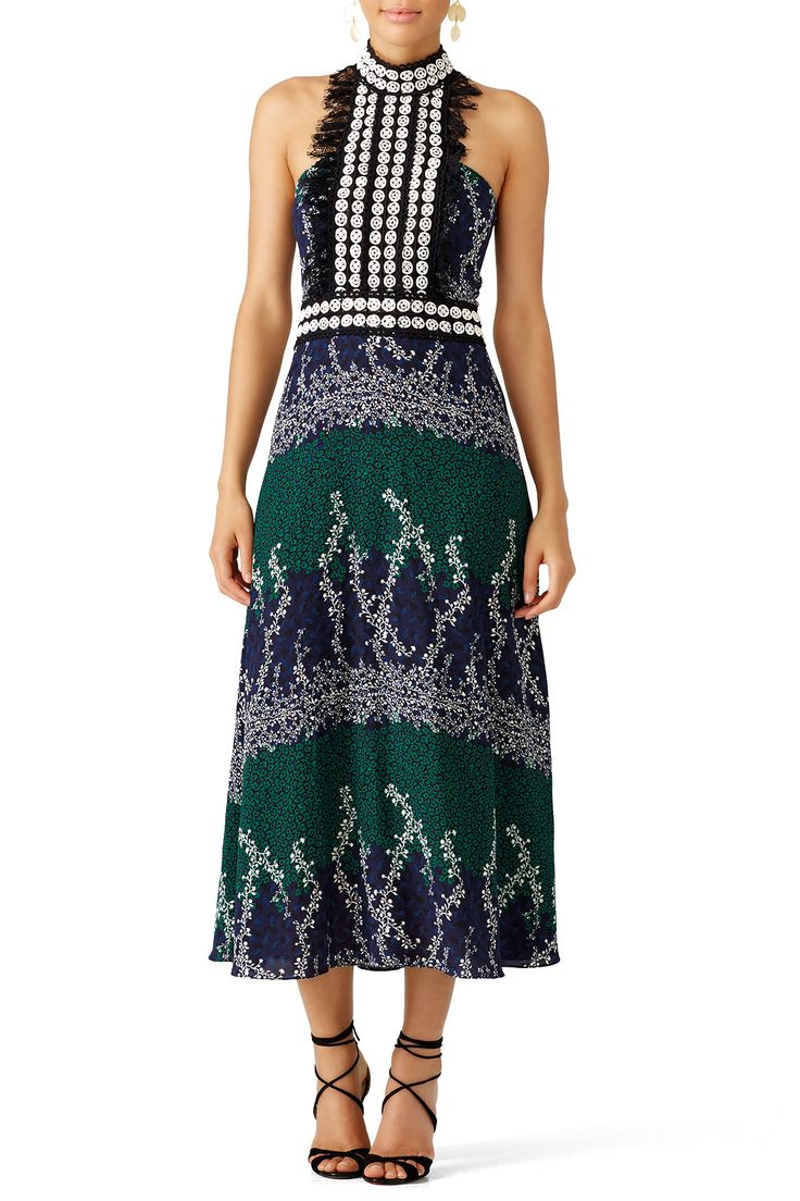 Rent Ivy Printed Trellis Dress by Yigal Azrouël for $175 - $210 only at Rent the Runway.