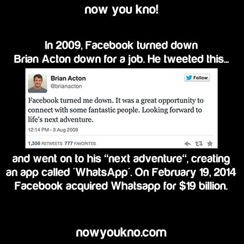 Brian Acton  aka the creator of WhatsApp note there are 777 favourites which is a message that he was on the right path