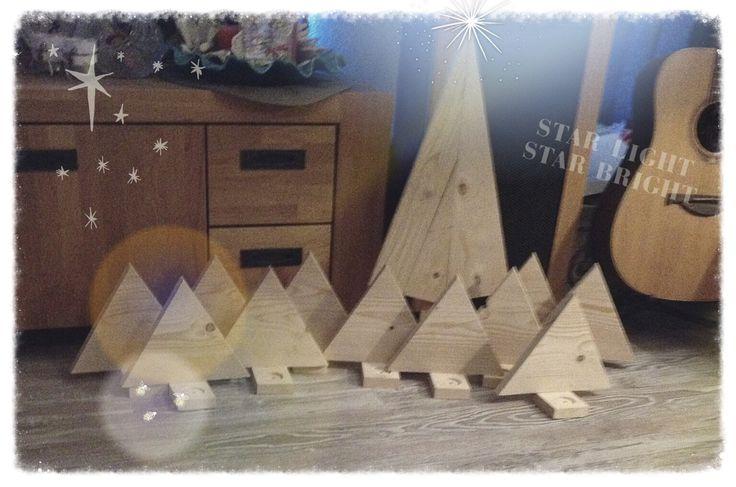 Kerstboompjes met voorop ruimte voor een waxinelichtje.