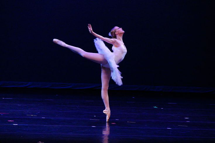 Ballerina pose used to get rid of hiccups