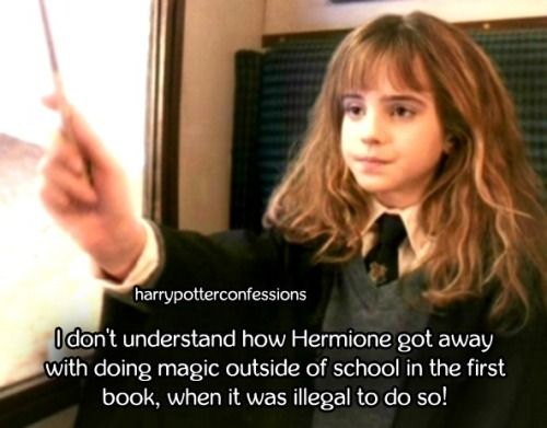 I dont understand how Hermione got away with doing magic...