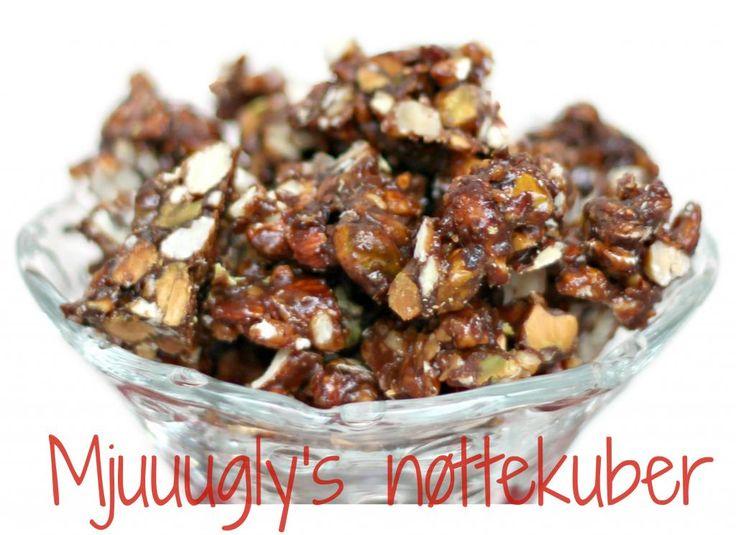 Mjuuugly's uimotståelige nøttekuber (sukkerfrie!) (En helseblogg om jakten etter en friskere...)