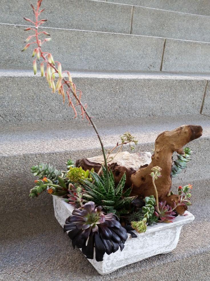 @Decorex2014 Service stations flower arrangements