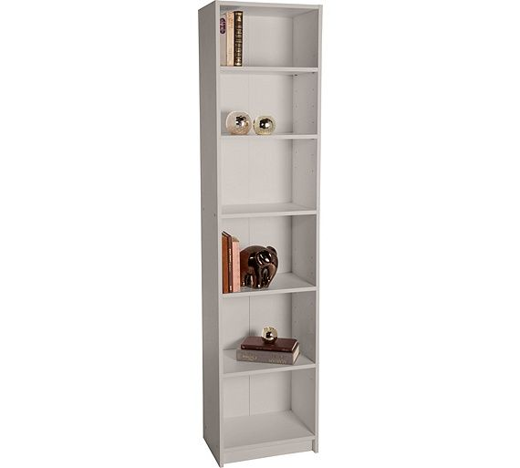Buy HOME Maine Half Width Tall Extra Deep Bookcase - Putty at Argos.co.uk - Your Online Shop for Bookcases and shelving units, Bookcases, shelves and DVD storage, Storage, Home and garden.